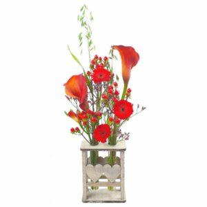 Mini vase 2 coeurs