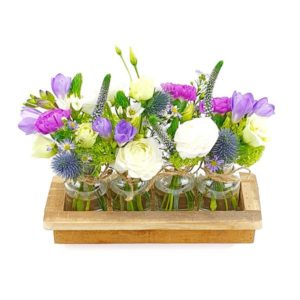 Mini vases bleu pastel