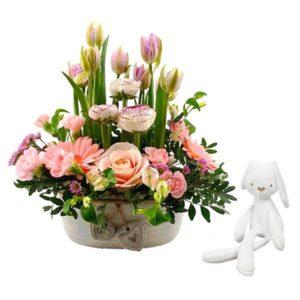Duo Tout doux - Livraison de fleurs