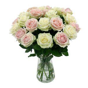 En rose et blanc