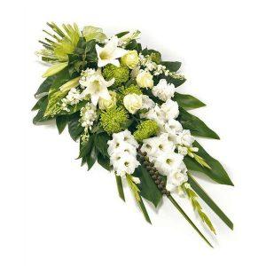Bouquet condoléance blanc