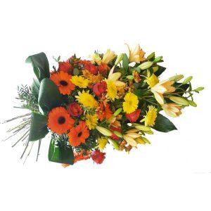 Bouquet condoléance coloré