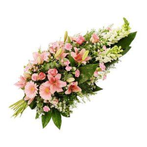 Bouquet condoléance pastel