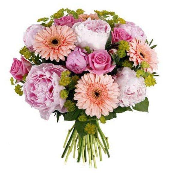 Bouquet avec pivoines - Livraison de fleurs