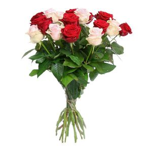 En rose et rouge