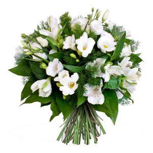 Bouquet de fleurs - Tout en blanc
