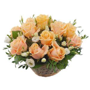 L'arrangement Panier de roses