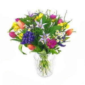Bouquet avec tulipes