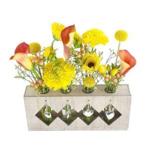 Mini vases 4 cœurs coloré